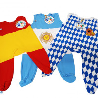 Baby clothes with flags of the countries, wholesale remaining stock
