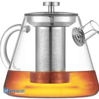 SILBERTHAL teapot with strainer - glass - 1.5 liters - full tea aroma