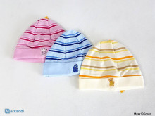 3-pack cotton baby hat