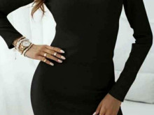 Women's dress with long sleeves vm4039