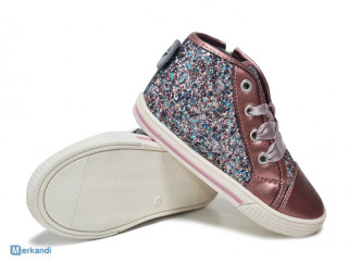 Pink Sprox kids sneakers with gliters - girl's shoes