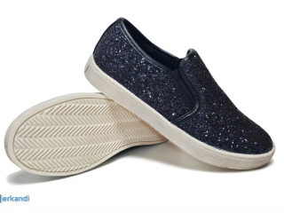 Dark blue Sprox kids shoes with glitters