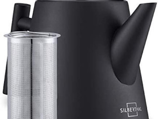 SILBERTHAL teapot with sieve insert 1l - stainless steel double-walled
