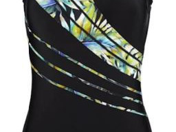 Swimsuit with fashionable contrasting inserts