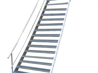 Auction: Steel staircase with one side. railing