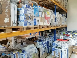 25 pallets of tools, garden accessories, household appliances A/B/C