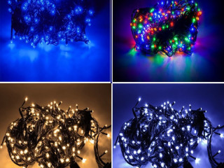 STRONG CHRISTMAS TREE LAMPS 200 LED MULTIPLE COLORS 15m.