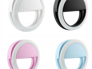 Selfie LED USB ring lamp. Battery + Micro USB cable