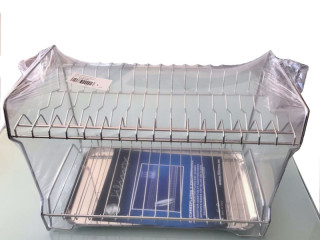 Dish drainer 16 pieces with tray Stainless Steel (Made in Spain)
