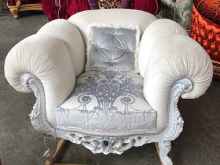 Stock of stylish sofas and armchairs