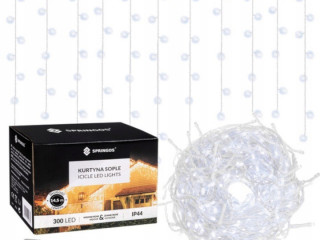 Curtain lights icicles white 300 LED