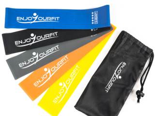 Stock of 100 lots of 5 resistance bands of 20 cm in Natural Latex