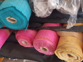 Lot of varied fabrics for clothing