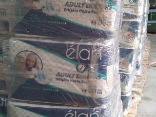 Diapers for children and adults, pads and wipes