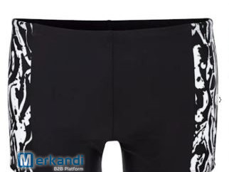 Swimming trunks with a fashionable print insert